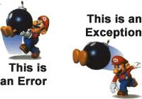 """""""Erreur ou Exception ?"""""""